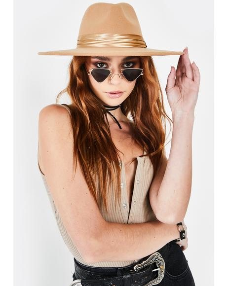 Natural Rebel Reputation Wide Brim Hat
