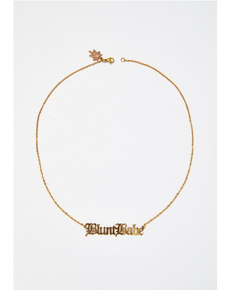 Blunt Babe Nameplate Necklace