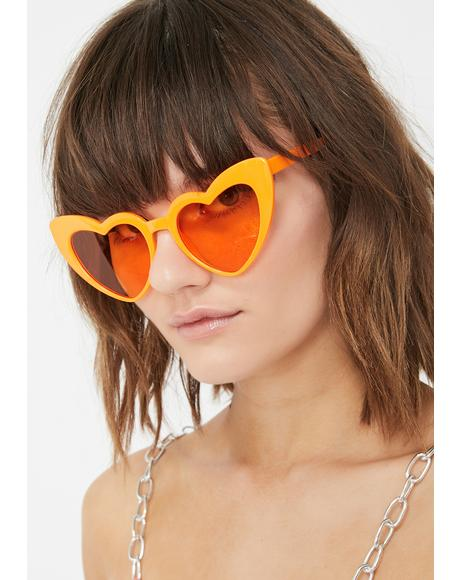 Lady Lova Heart Sunglasses