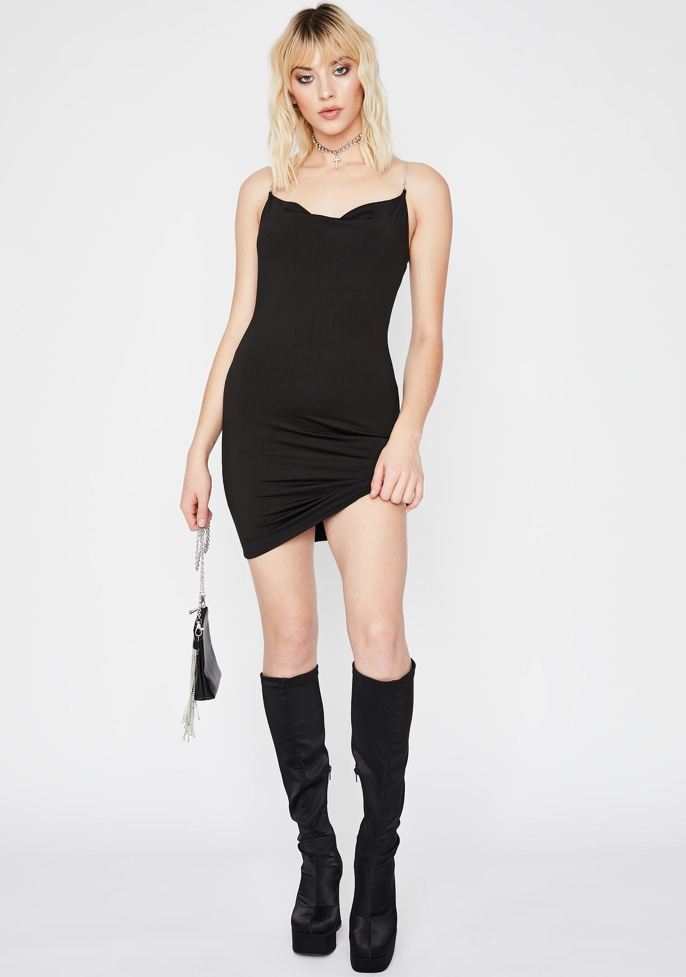 Noir Wine N' Dine Me Mini Dress