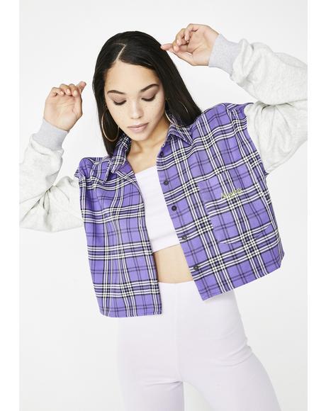 Naughty Plaid Sweatshirt