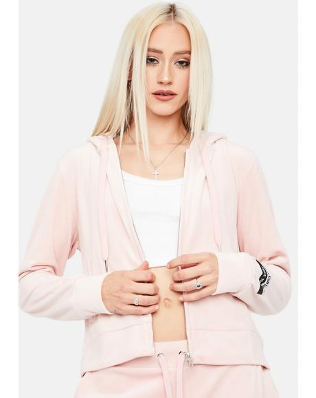 Luxe Velour Zip Up