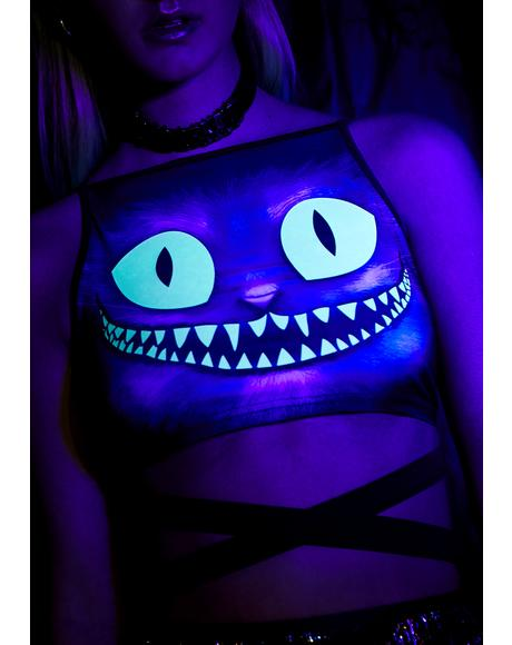 Creepy Kitten Glow In The Dark Top
