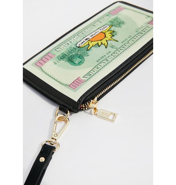 Betsey Johnson Rockin' Benjamin Wristlet Wallet