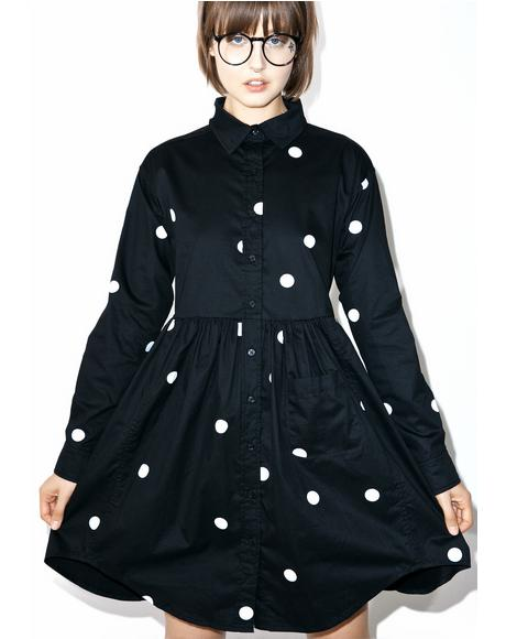 Big Dot Shirt Dress
