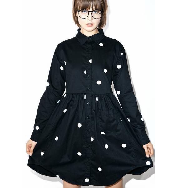 Lazy Oaf Big Dot Shirt Dress