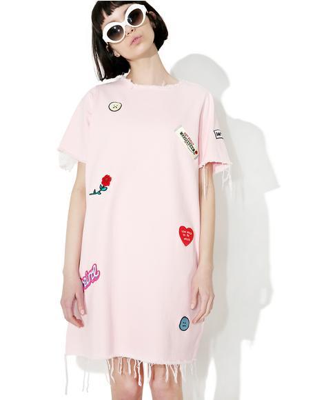 Denim Patch Tunic Dress