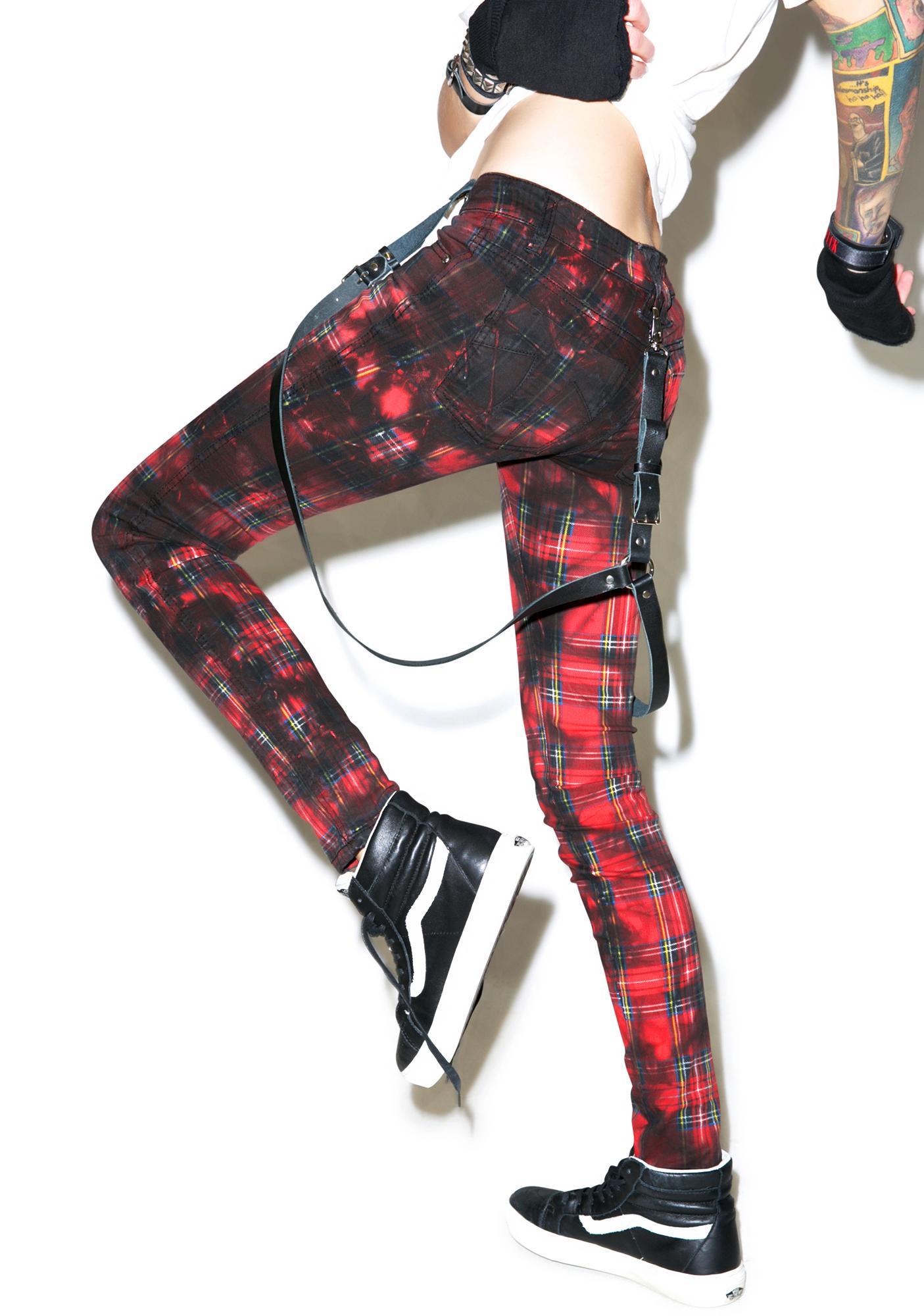 Tripp NYC Plaid Street Wash Jeans