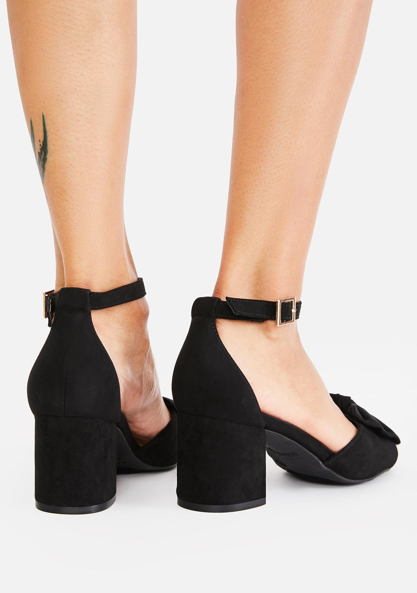 Secrets All Wrapped Up Peep Toe Heels