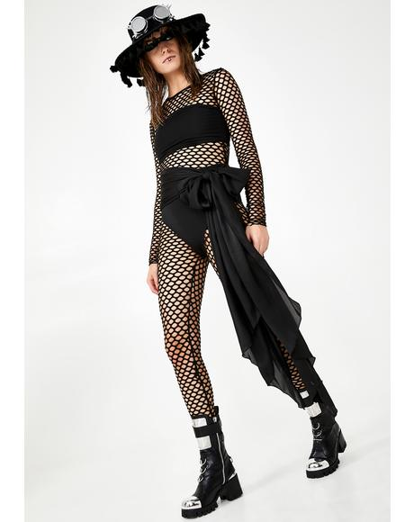 Fatal Fairy Fishnet Catsuit
