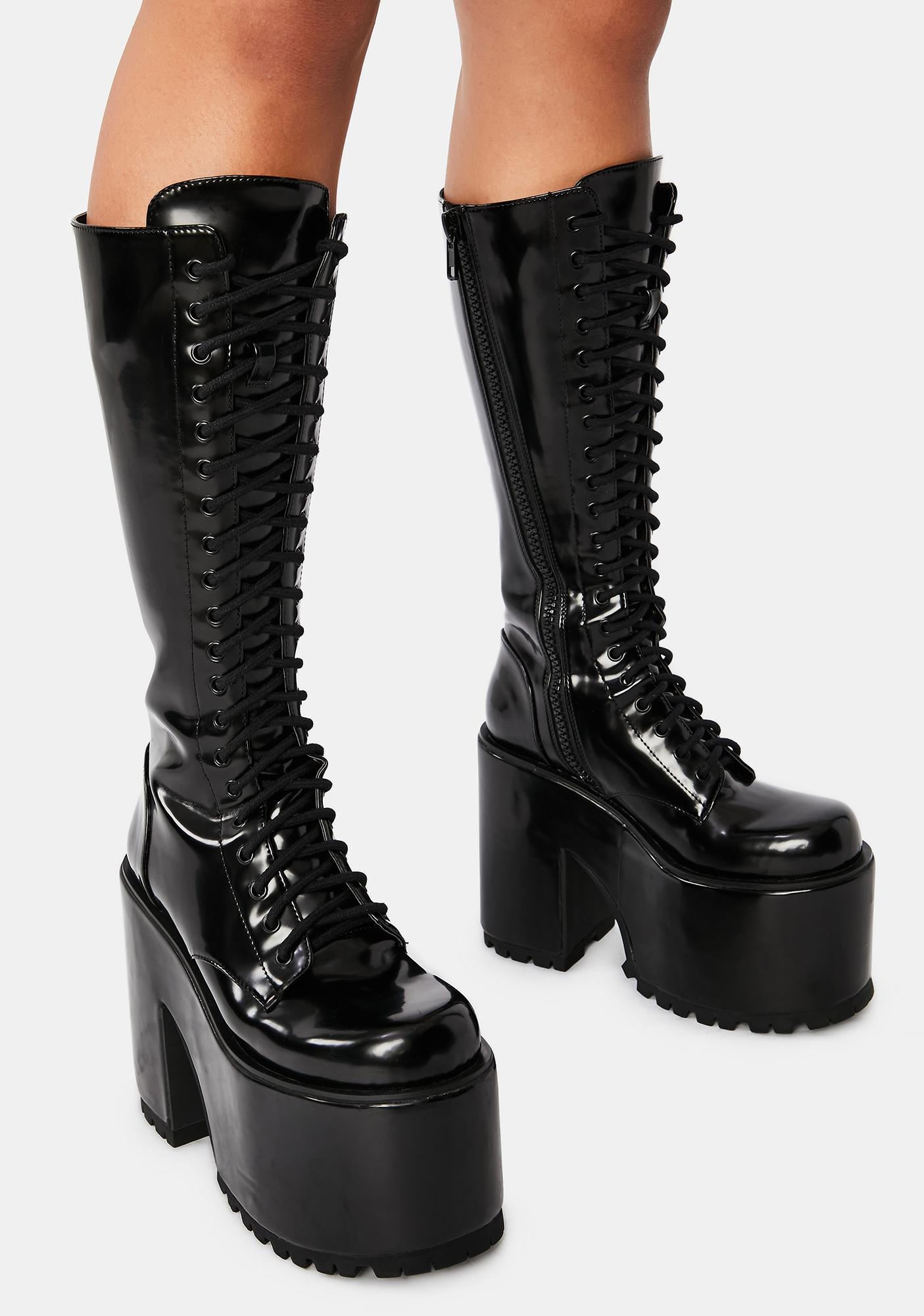 Current Mood Rise And Fall Knee High Boots