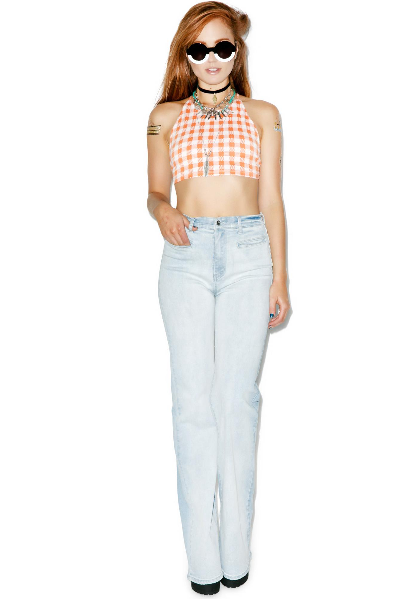 Motel Country Girl Tess Crop Top