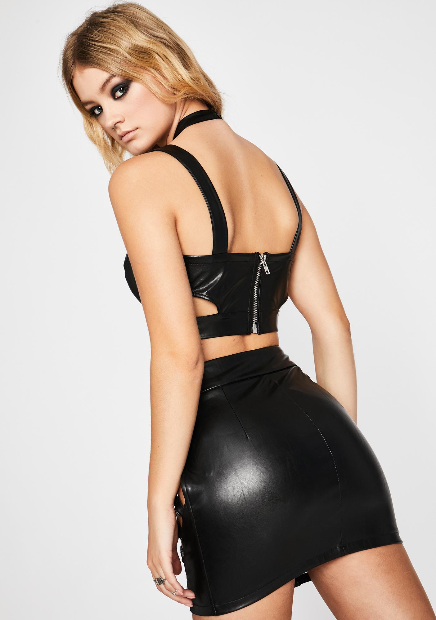 Dark Iconic Kinks Cut Out Skirt