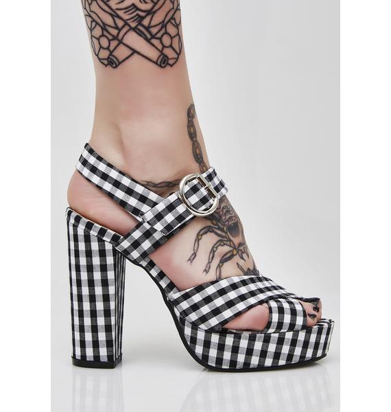 So Seductive Gingham Heels