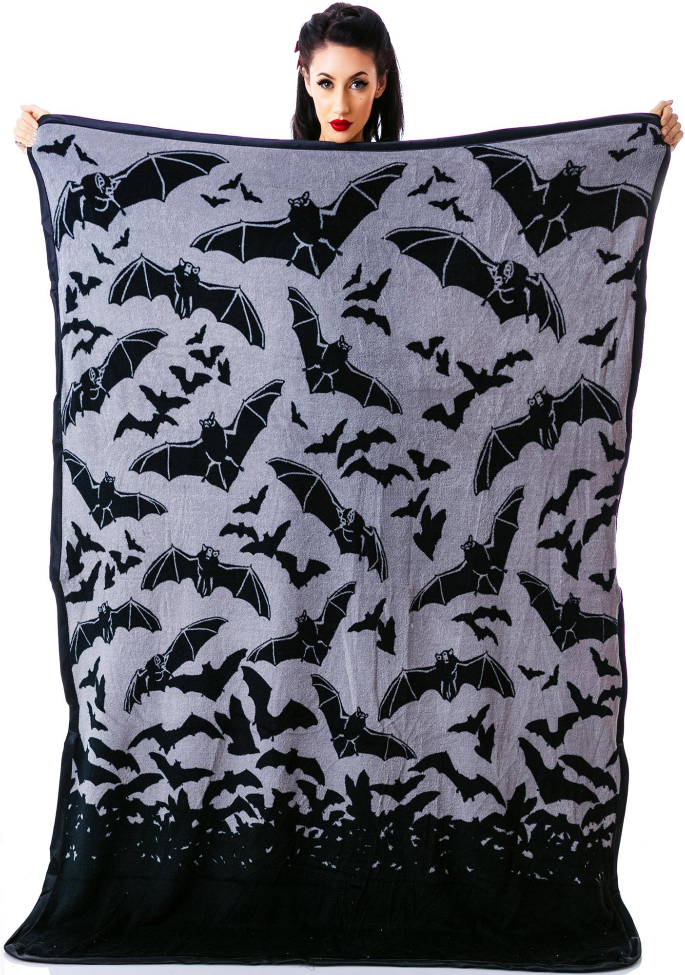 Sourpuss Clothing Bat Country Blanket