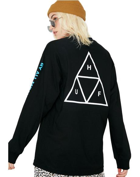 Multi Triple Triangle Long Sleeve Tee