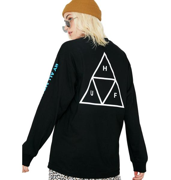HUF Multi Triple Triangle Long Sleeve Tee