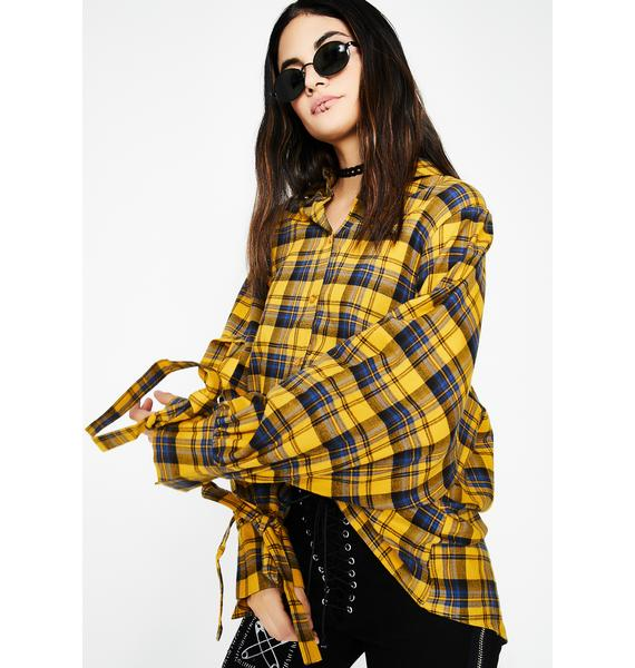 Marigold Plaid Shirt