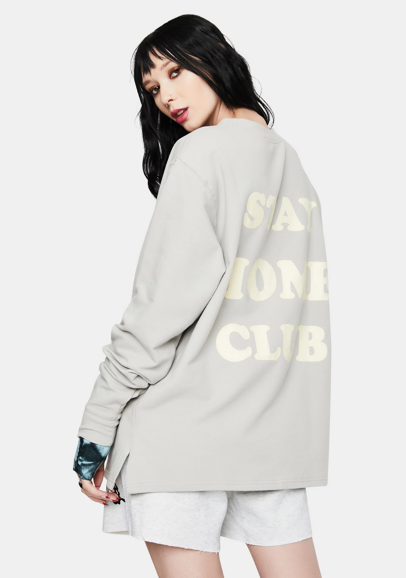 Bailey Rose Stay At Home Club Long Sleeve Pocket Tee