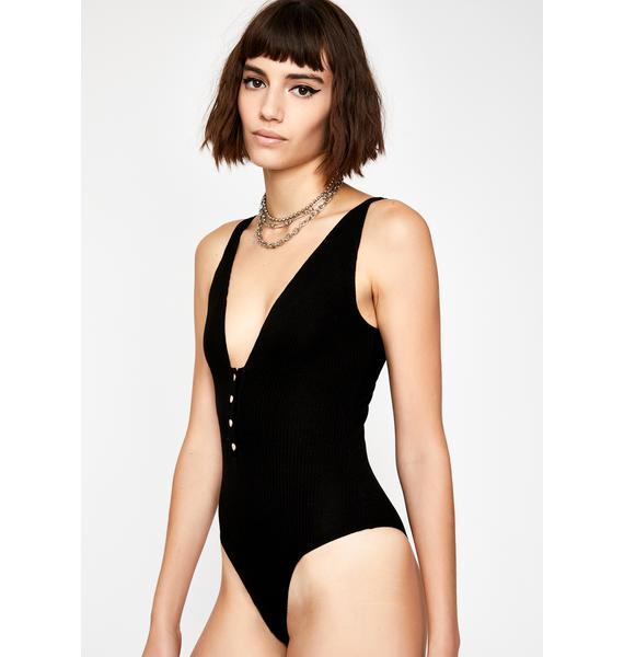 Night Look Back At It Ribbed Bodysuit