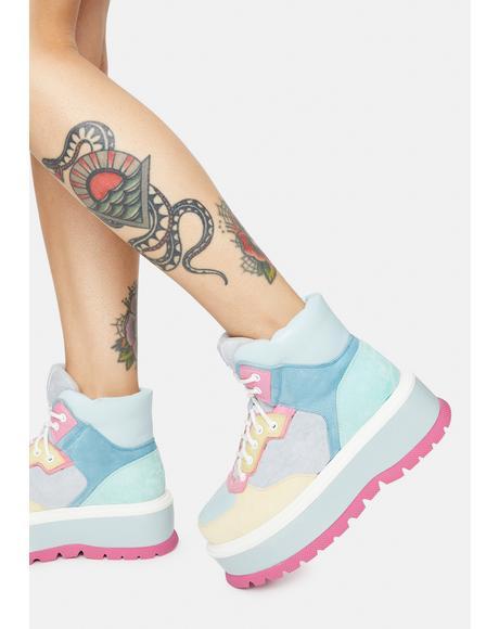 Blue Multi Sumikko Platform Sneakers