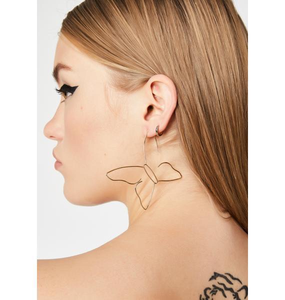 Make Me Flutter Wire Earrings