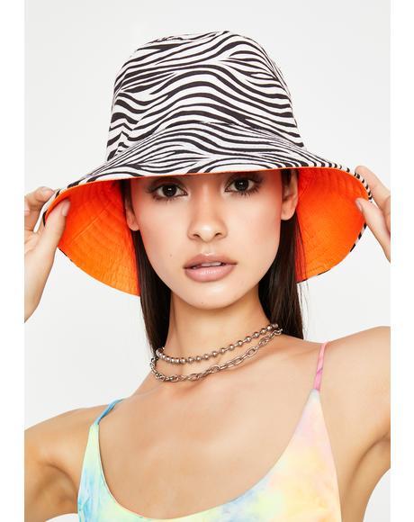 Juicy Wild Event Zebra Bucket Hat