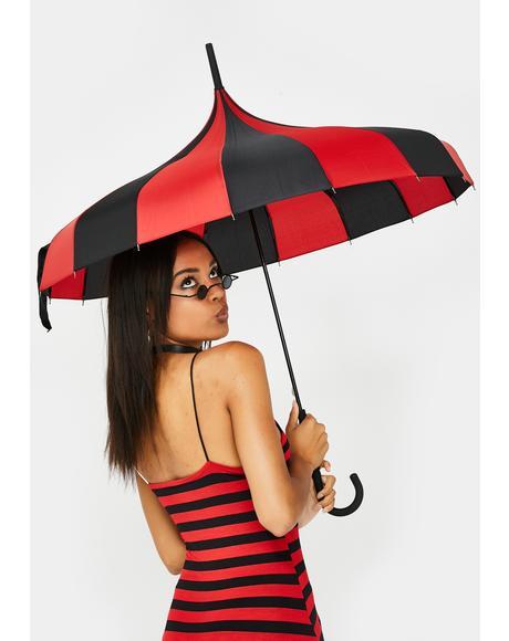 Pagoda Striped Umbrella