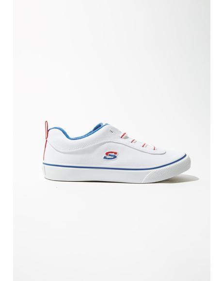 White V'Lites Stitch N Stride Sneakers