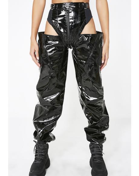Panty Trouser Black Patent