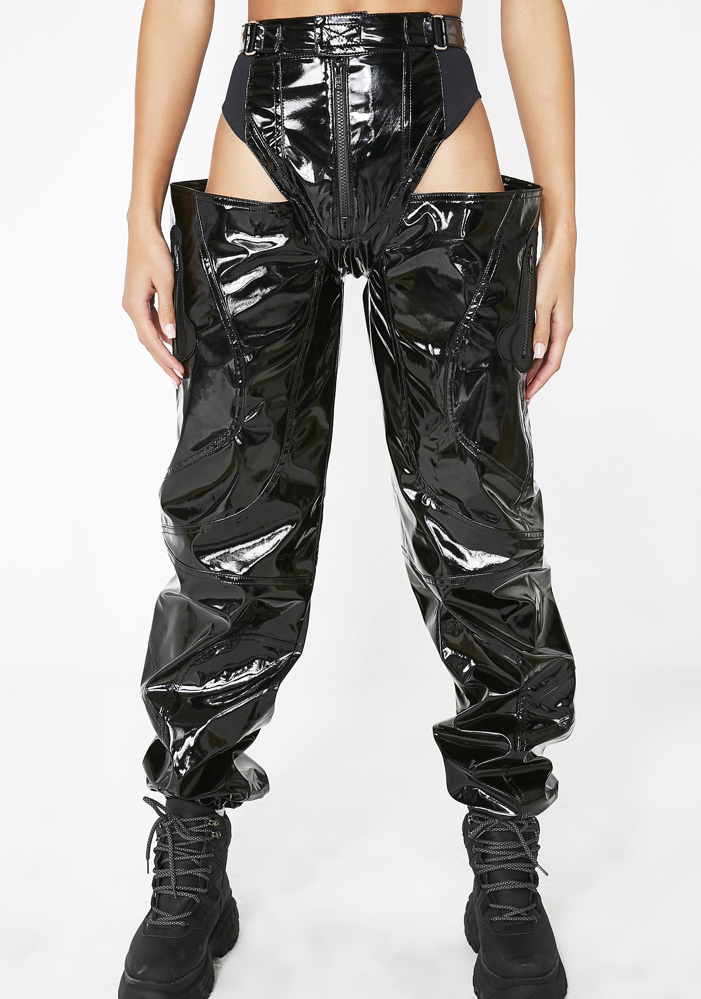 Namilia Panty Trouser Black Patent