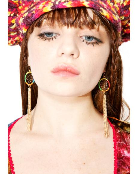 Hazy Dreamer Fringe Earrings