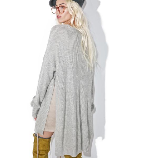 Subtle Romance Slit Sweater