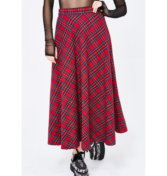 What's Poppin' Plaid Skirt