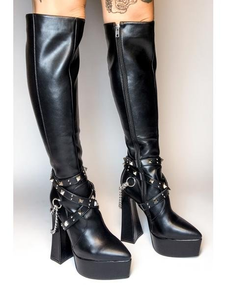 Distractions Knee High Boots