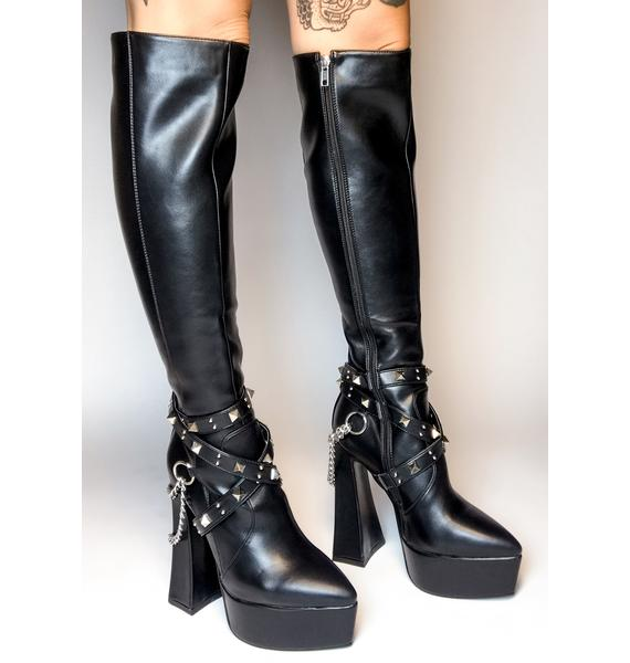 Lamoda Distractions Knee High Boots