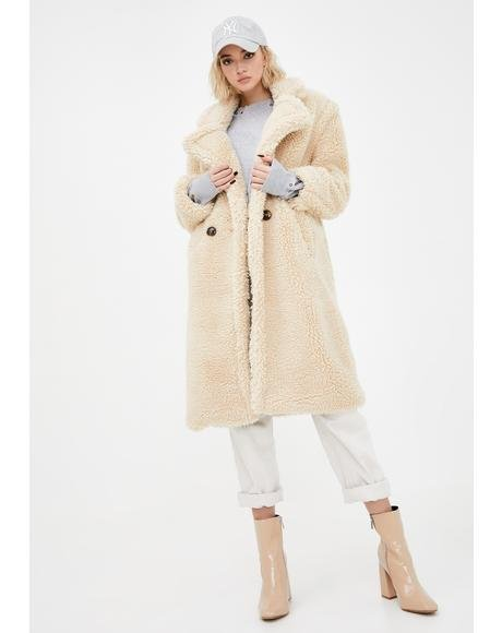 Taupe Naomi Long Coat