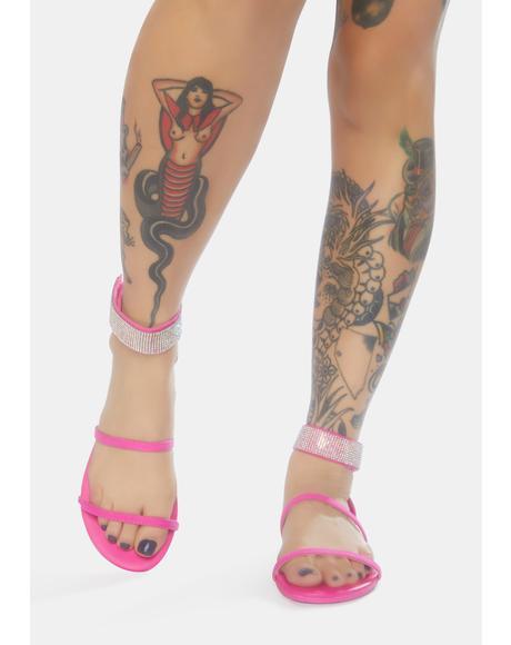 Lil She's A Dreamer Rhinestone Sandals