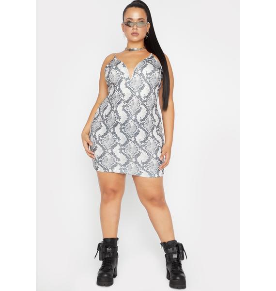 Her Ice Cold Heart Snakeskin Dress