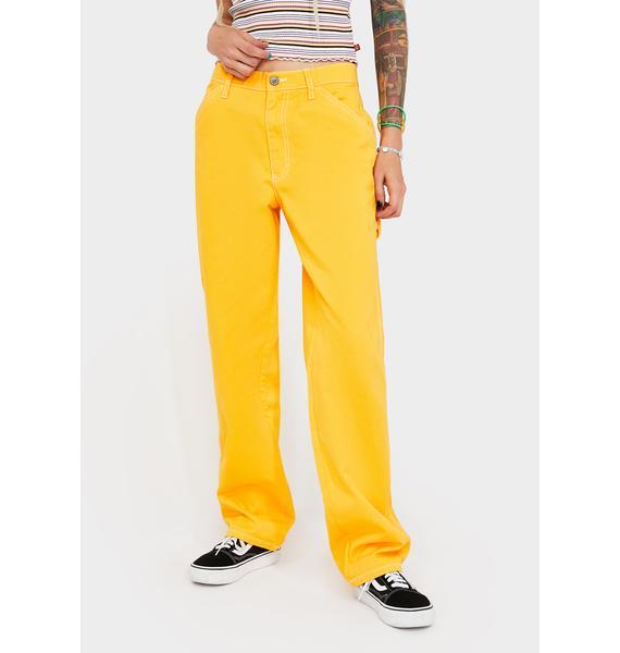 Dickies Girl Yellow Carpenter Pants