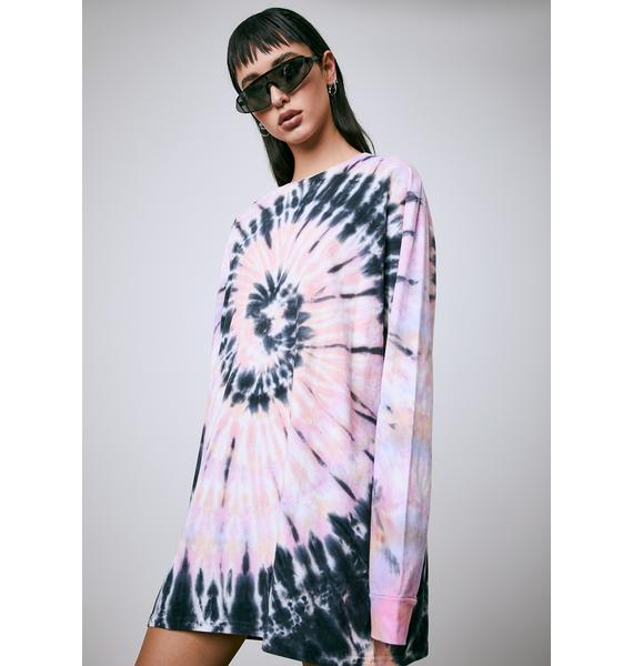 Current Mood Dizzy In My Head Tie Dye Tee