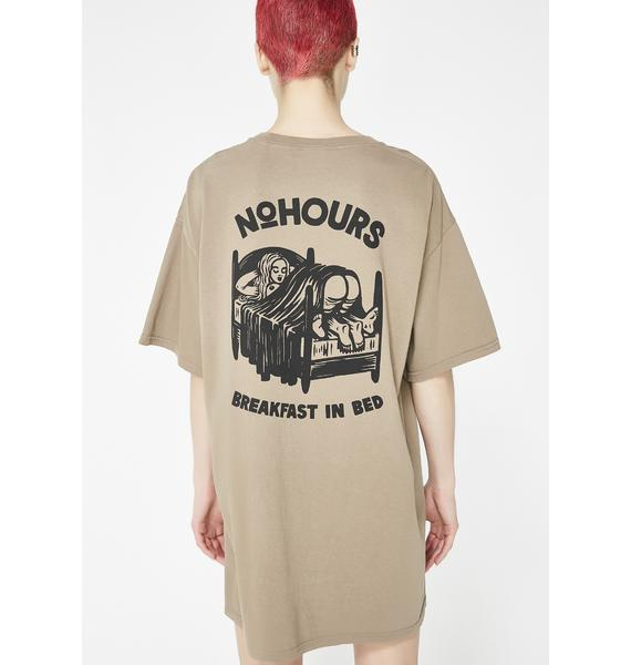 No Hours In Bed Short Sleeve Tee