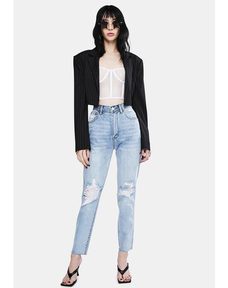 Indigo Raider Trash Meet My Mum High Waist Jeans
