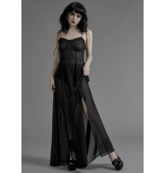 Widow Phantom Thread Maxi Dress