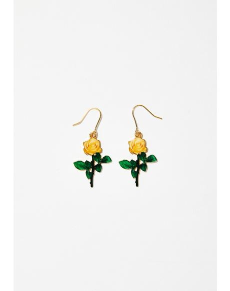 Call A Rose Earrings