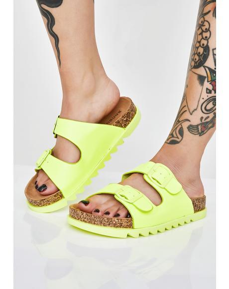 Beach Bish Buckle Sandals