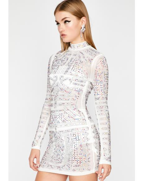 Icy Model Type Rhinestone Dress