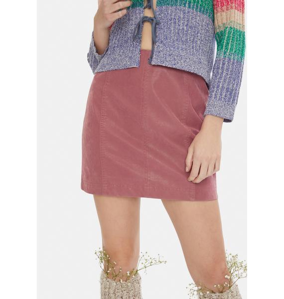 Free People Vegan Suede Modern Femme Mini Skirt