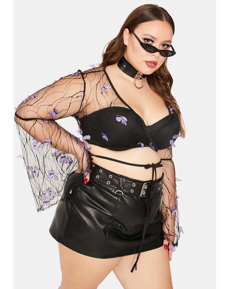 True Fairy Haven Sheer Butterfly Wrap Top