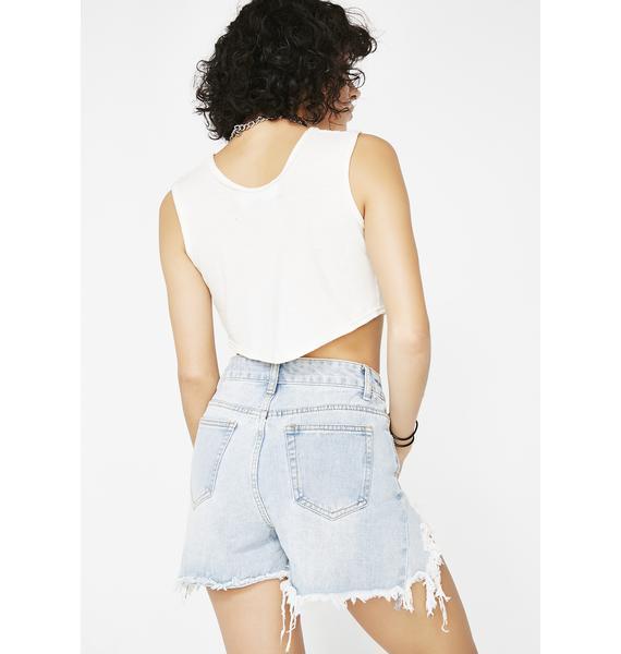 Momokrom Destroyed Jean Shorts